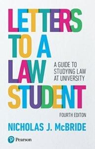 Letters To A Law Student - Nicholas J. McBride