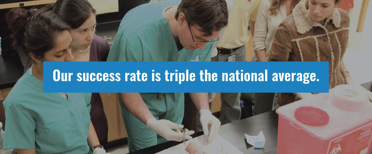 our success rate is triple the national average