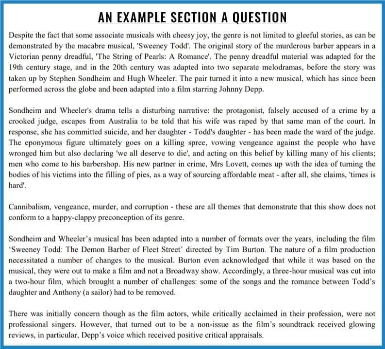 a typicical section a LNAT question