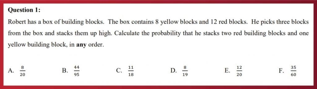 question 1 maths nsaa