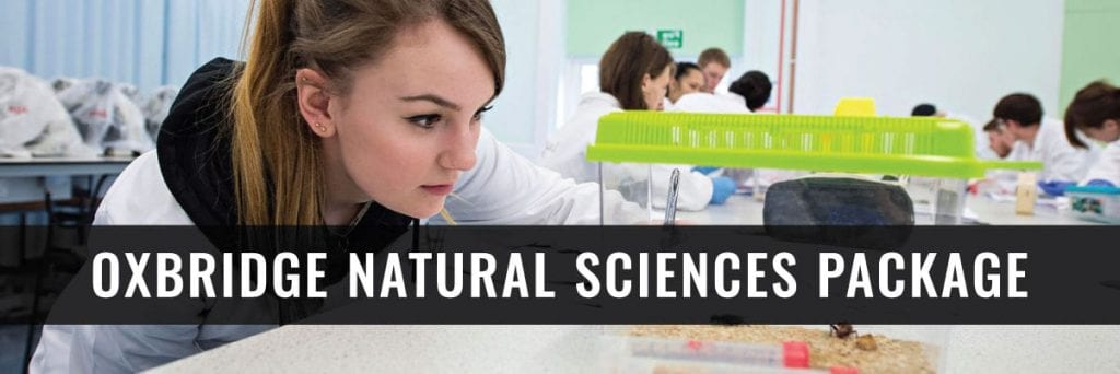 natural sciences student from oxbridge package