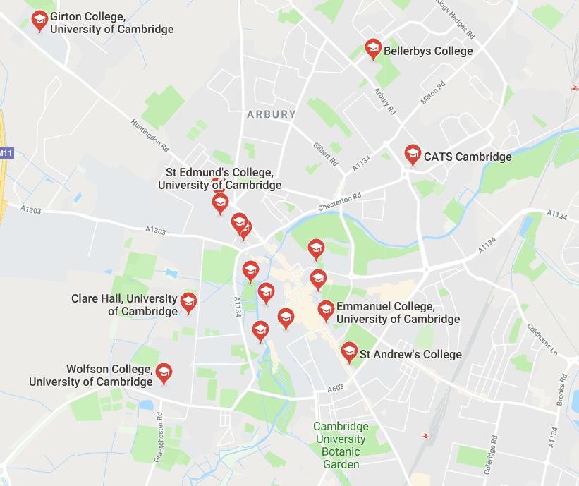 map-cambridge-colleges